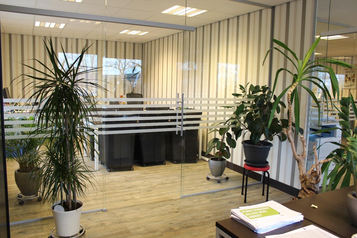 Glazen kantoorwand Hoogeveen